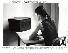 Duane Michaels A photograph from the Madame Schrödinger's Cat series. Conceptual Photography, Monochrome Photography, Portrait Photography, Duane Michals, Carl Friedrich, Francesca Woodman, Photo Sequence, Schrodingers Cat, Artwork Images