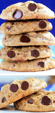 The best healthy chocolate chip cookie recipe #dessert #cookies #healthy #healthysnacks #recipe #chocolatechipcookies #chocolate #vegan #glutenfree #oatmeal #health #dairyfree #eggfree Best Vegan Chocolate, Healthy Chocolate Chip Cookies, Chocolate Recipes, Healthy Cookies, Cookie Recipes, Easy Baking Recipes, Brownie Recipes, Vegan Recipes Easy, Sweet Recipes