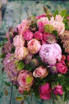 Stunning variety of pink and lilac shades with roses and peonies and hydrangeas .a true summer bouquet arrangement Fresh Flowers, Spring Flowers, Beautiful Flowers, Beautiful Flower Arrangements, Floral Arrangements, Spring Flower Arrangements, Deco Floral, Floral Bouquets, Pink Bouquet