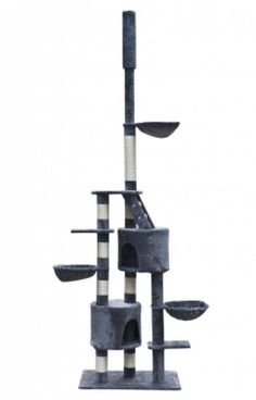 Cat Play Tree Cuddles XL 230 - 260 cm Grey Plush  Enjoy this Cheap Opportunity. At Luxury Home Brands WE always Find Great Stuff for you :)