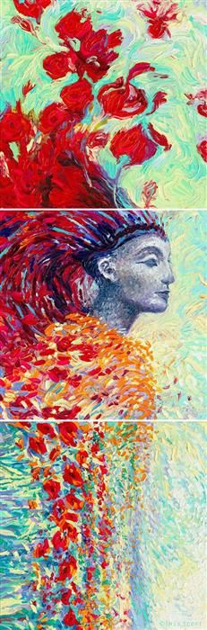 Buy Original Art by Iris Scott | oil painting | Egyptian Triptych at UGallery
