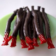 Chocolate covered twizzlers