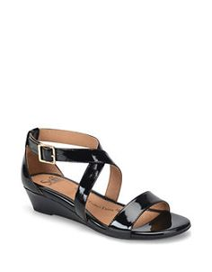 Innis Leather Slingback Wedge Sandals   Lord and Taylor
