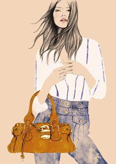 ❋ Style ❋ // #Fashion #moda // Fashion illustration by Sandra Suy for Chloé