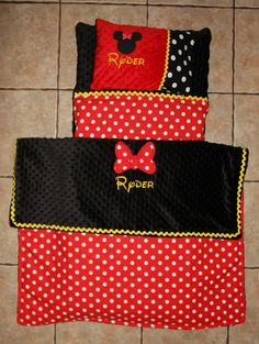 Minnie Mouse nap mat cover, blanket, pillow and pillow case. Please send me a message for inquiries.