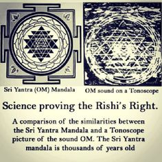 OM... Science is now proving that what the ancient seers (Rishis) saw was fact!
