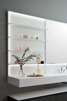 And then finishes of your choice, accessories to be integrated and #lighting on one or more sides. Shelves, Mirror, Frame, Wall, Bathroom, Lighting, Home Decor, Accessories, Picture Frame