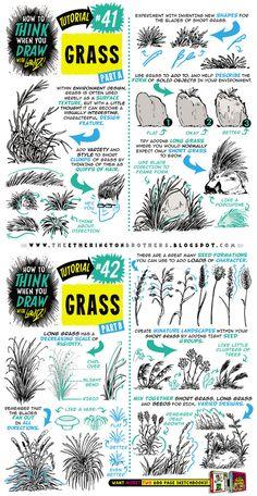How to draw GRASS tutorial by STUDIOBLINKTWICE.deviantart.com on @DeviantArt