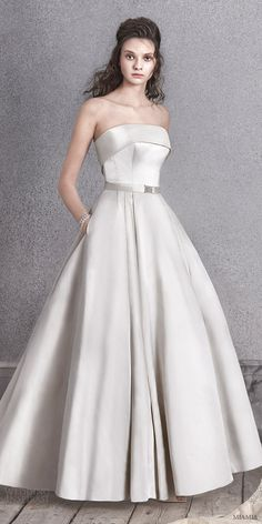 MIAMIA bridal 2016 strapless straight across ball gown satin wedding dress (orla) zv oyster color  #bridal #wedding #weddingdress #weddinggown #bridalgown #dreamgown #dreamdress #engaged #inspiration #bridalinspiration #weddinginspiration #weddingdresses
