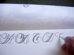 CALLIGRAPHY TUTORIAL LETTERS D,E,F