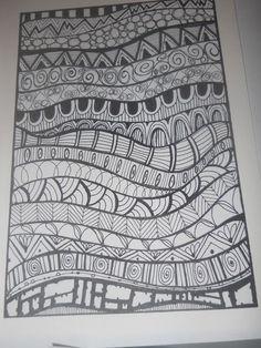 zentangle basics patterns for kids - Googl Doodle Art Drawing, Zentangle Drawings, Doodles Zentangles, Mandala Drawing, Tangle Doodle, Drawing Ideas, Doodling Art, Zen Doodle, Easy Zentangle Patterns