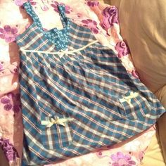 """Selling this """"The City Place Blue Plaid dress embellished front"""" in my Poshmark closet! My username is: lillystarr66. #shopmycloset #poshmark #fashion #shopping #style #forsale #The Children's Place #Other"""