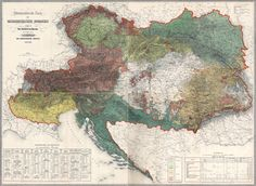 Ethnographic Map of the Austrian Empire, 1855 // I f*cking Love Maps // Cartography // Austria