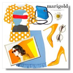 """More Marigold"" by adduncan ❤ liked on Polyvore featuring Casadei, Gucci and Marni"
