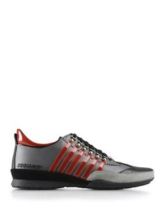 DSQUARED2 Varnished effect, Textured leather, Laces, Rubber cleated sole, Visible logo $395