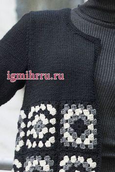 Transcendent Crochet a Solid Granny Square Ideas. Inconceivable Crochet a Solid Granny Square Ideas. Pull Crochet, Gilet Crochet, Crochet Coat, Crochet Jacket, Crochet Cardigan, Crochet Clothes, Easy Crochet, Crochet Motifs, Granny Square Crochet Pattern