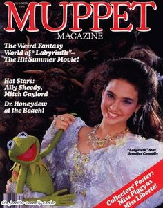 "Jennifer Connelly in her Labyrinth costume. The 13 Most Delightful Covers Of ""Muppet Magazine"""