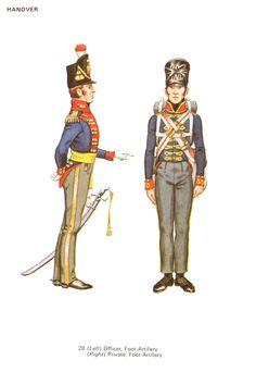 Ufficiale e cannoniere dell'artiglieria a piedi di Hannover