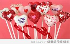 "These Valentine's Day Cake Pops are a cute way to say ""I love you!"""