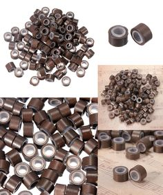 200pcs 5mm Micro Ring Beads Silicone Bead Link Microring For Feather Hair Extension Tools 3# Dark Brown Links, Rings & Tubes Hair Extensions & Wigs
