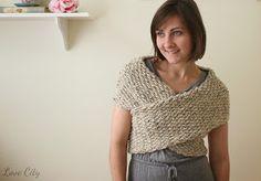 Love City: crochet love {wrap sweater}