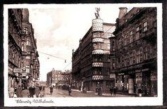 Polen Ansichtskarte - Gleiwitz - Wilhelmstraße - verschiedene Läden  1940