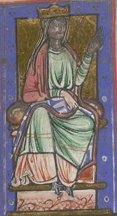 Ealhswith or Ealswitha (born c. 852 in Mercia – died 905) was the daughter of a Mercian nobleman, Æthelred Mucil, Ealdorman of the Gaini. She was married in 868 to Alfred the Great, before he became king of Wessex. In accordance with ninth century West Saxon custom, she was not given the title of queen.