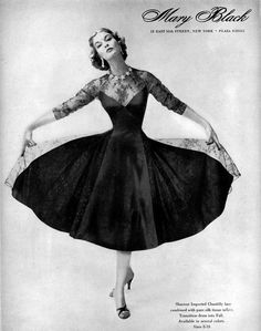 1955--If I had somewhere to wear this... I totally would. I love the '50's. So classy & elegant the women of that era were. (Sigh)