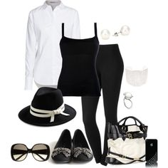 """""""Black and White"""" by laaudra-rasco on Polyvore"""