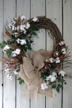 Cotton stems and pinecone wreath 2019 Cotton stems and pinecone wreath The post Cotton stems and pinecone wreath 2019 appeared first on Cotton Diy. Country Wreaths, Fall Wreaths, Christmas Wreaths, Indoor Wreath, Outdoor Wreaths, Cotton Decor, Cotton Crafts, Cotton Wreath, Diy Wreath