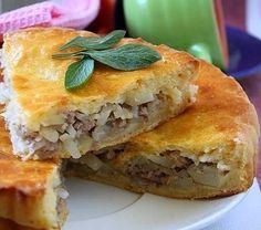 Лучшие кулинарные рецепты : Пирог с мясом и картофелем