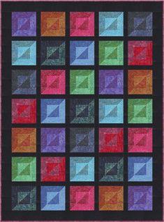 Bevelled Quilt Pattern PC-228 (Advanced Beginner, Crib, Bed Runner, Throw, Lap, Queen)