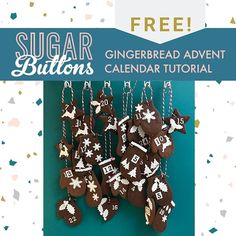 This should have gone out weeks ago but hey there are still a few days!! FREE Gingerbread Advent Calendar Tutorial!! Click the link in my bio and since all seem to be dealing with at the moment is tech glitches youll probably also get another free tutorial at the same time!  #gingerbread #diyadventcalendar #edibleadventcalendar #makeyourown #makeyourownadventcalendar #caketutorials #sugarbuttonscakes #sugarbuttonscakeschool #finecitybakes #finecitycakes #norwich #festivefun Diy Advent Calendar, Has Gone, Gingerbread Cookies, Be Still, Make Your Own, Going Out, In This Moment, Christmas Ornaments, Holiday Decor