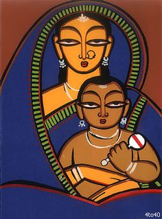 jamini roy paintings -  also my header, one of my favorites
