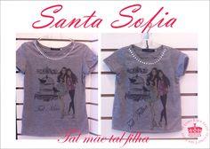 Moda Santa Sofia: Mãe e filha juntas sempre moda Santa Sofia