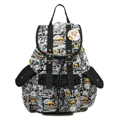 One Piece Cartoon Chopper Unisex Student Book Bag Anime Canvas Rucksack Knapsack Backpack for Teens 42*30*15cm