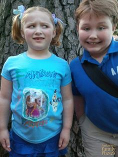 """""""My niece and nephew on their school field day, my sister was taking pics, and already had taken my nephews. It was time for my nieces and right before she snapped the pic he jumped in. The look is priceless!"""""""