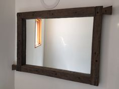 Espejo en madera reciclada -encastre Decor, Furniture, Home Decor, Mirror