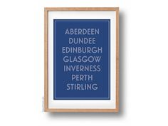 Scottish cities // A4 Poster by shopLAYOUTLINES on Etsy