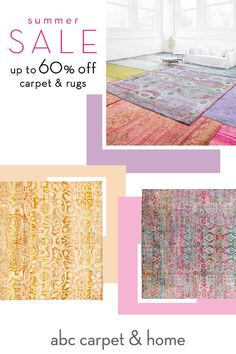 Summer Sale. Save up to 60% off carpet & rugs, including moroccan, overdyed, contemporary and vintage rugs. In-store and online.