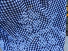 Vintage azul marino azul y blanco moña Compruebe por thecherrychic