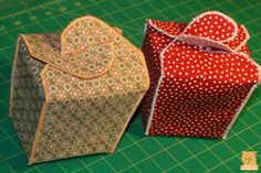 fabric take-out boxes--revise to sew wrong sides together and flip to get cleaner edges? (oct 15, 2011)