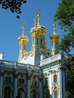 St. Petersburg, Russia, Catherine Palace, Golden Domes