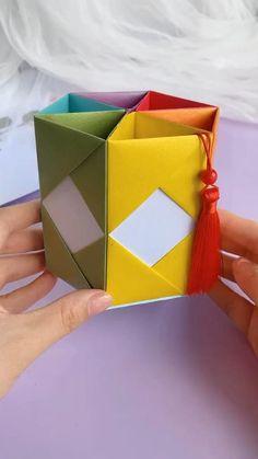 Diy Crafts, Paper Bag Crafts, Paper Crafts Origami, Paper Gift Box, Paper Crafts For Kids, Resin Crafts, Preschool Crafts, Arts And Crafts, Diy Origami