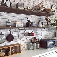 見せる収納/キッチン/コーヒーミル/KARITA/コーヒーのある暮らし...などのインテリア実例 - 2019-12-11 11:01:45 | RoomClip(ルームクリップ) Kitchen Cabinets, Home Decor, Decoration Home, Room Decor, Cabinets, Home Interior Design, Dressers, Home Decoration, Kitchen Cupboards