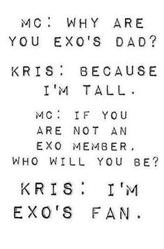 Im Crying Pool of Feels T^T oh Kris :(