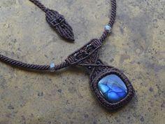 Labradorita × espinela / piedra preciosa del collar negro - Accesorios de piedra natural de pedidos por correo   ARTEMANO (Arutemano)