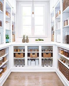 Pantry Room, Walk In Pantry, Pantry Office, Ikea Pantry, Home Design, Design Room, Kitchen Pantry Design, Kitchen Decor, Room Kitchen