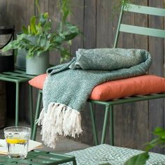 A suitable blanket for late summer nights as the dew begins to settle // Blanket, available in three colours: dark green, dusted light green and blue. Price per item DKK 79,00 / ISK 2179 / SEK 114,00 / NOK 116,00 / EUR 10,98 / GBP 10,62
