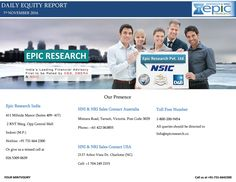 Epic research daily equity report 07 november 2016